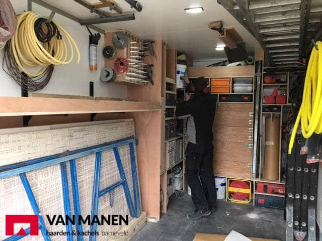 Uitbreiding wagenpark afdeling montage Van Manen haarden en kachels