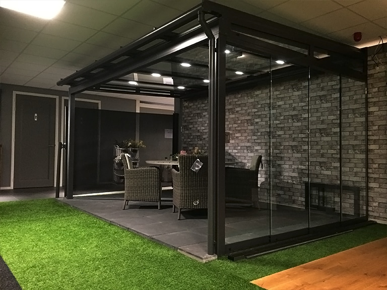 Nieuwe veranda in de showroom