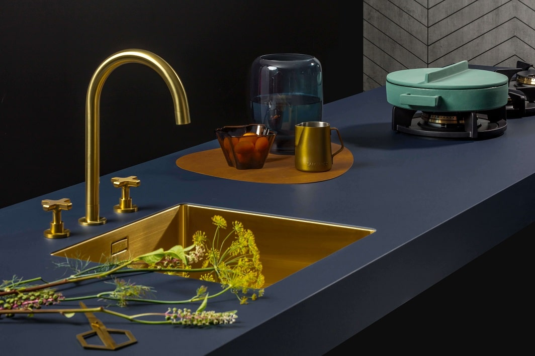 Trend van 2019: De luxe keuken met gouden tinten