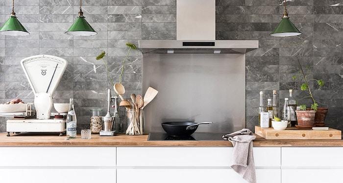 Ook in de keuken kunnen de tegels van vtwonen gebruikt worden.