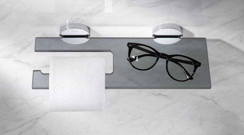 Stijlvolle accessoires maken uw badkamer af.