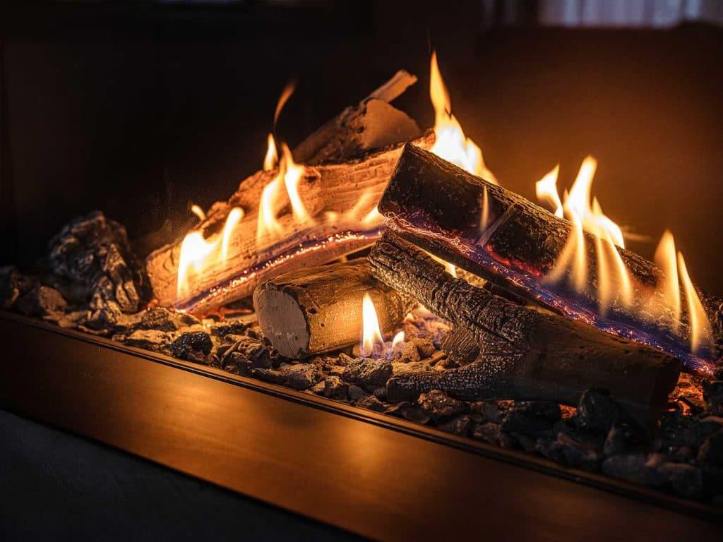 Met een gashaard kunt u met 1 druk op de knop genieten van vuur.