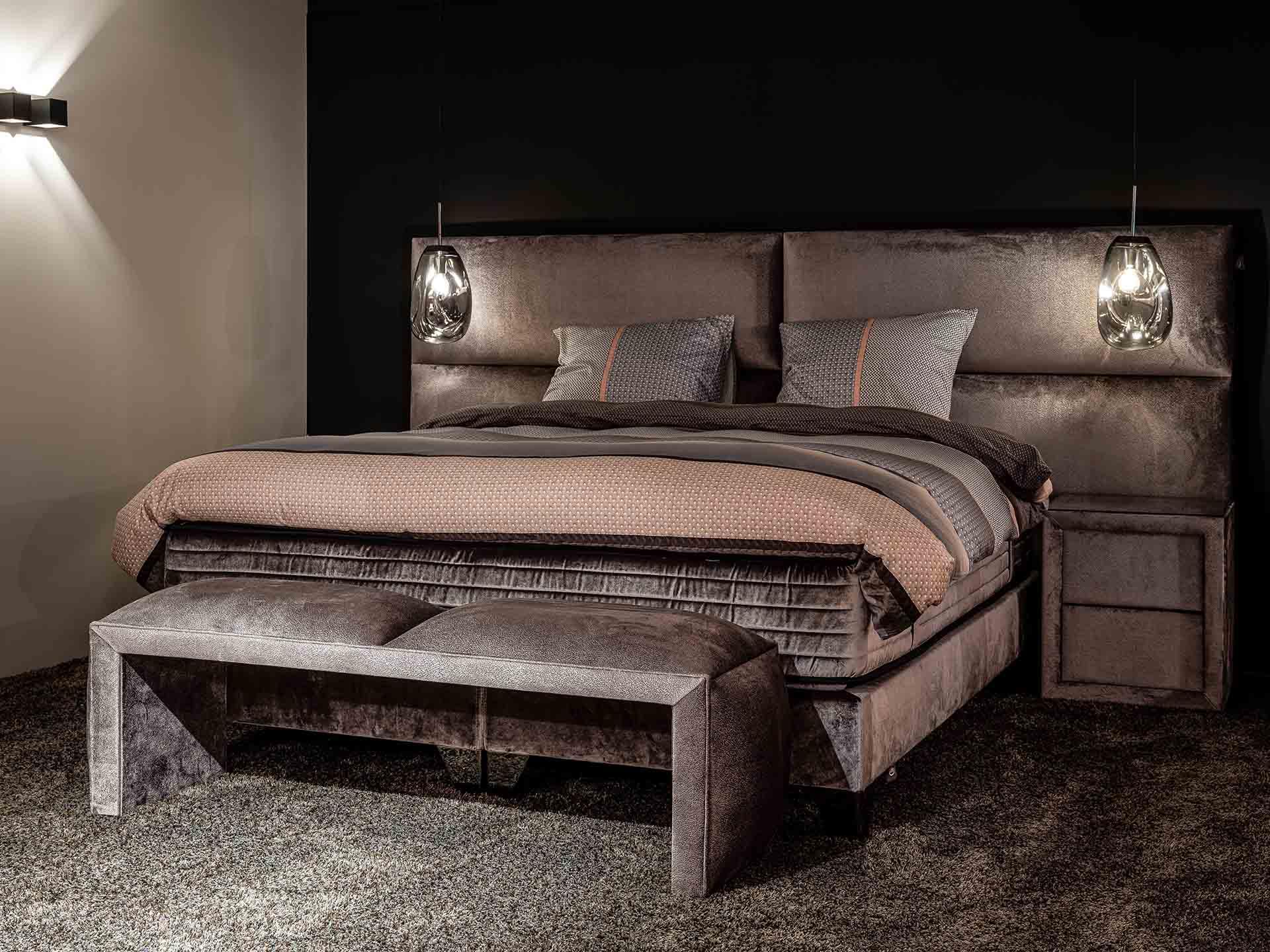 Inspiratie voor een hotel chique slaapkamer
